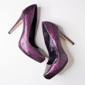 [ SOLD ] Joey O Shoes Faux Snake Skin Heels